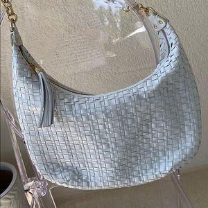 ELLIOTT LUCCA | leather woven hobo purse
